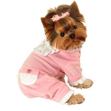 Hip Doggie HD-10PSTY-L Large Pink Sweety Jumper