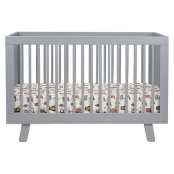 Babyletto 3-in-1 Convertible Crib with Toddler Rail - Grey