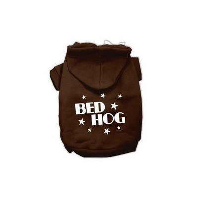 Mirage Pet Products Bed Hog Screen Printed Pet Hoodies Brown Size S (10)