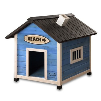 Pet Squeak Beach House Dog House, Medium
