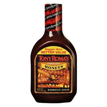 Tony Roma's BBQ Sauce, Carolina Honeys, 43-Ounce (Pack of 3)