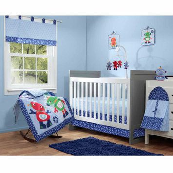 Baby Boom Robots 10-Piece Crib Bedding Set