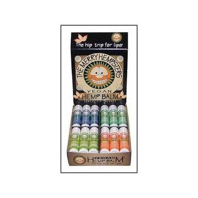 The Merry Hempsters Vegan Hemp Lip Balm Assortment Counter Display 0.14oz/24pc from The Merry Hempsters