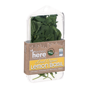 FarmedHere Local Organic Lemon Basil