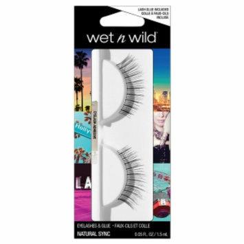 Wet 'n' Wild Wet n Wild Eyelashes & Glue, Natural Sync, 1 ea