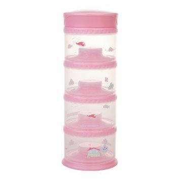 Innobaby Packin' smart Four Tier Travels Stack N Seal Food Storage System, Pink