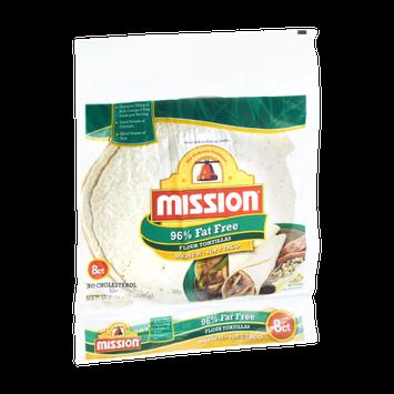 Mission 96% Fat Free Medium Soft Taco Flour Tortillas - 8 CT