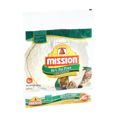 Mission 96% Fat Free Medium Soft Taco Flour Tortillas - 8 CT