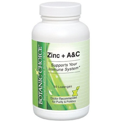 Botanic Choice Zinc A and C Lozenges, 50 Count (Pack of 4)