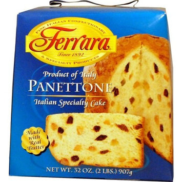 Ferrara Panettone, Italian Specialty Cake, 32-Ounce Boxes (Pack of 2)