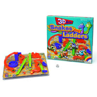 New Entertainment Ltd. Intex 3D Snakes and Ladders Board Game