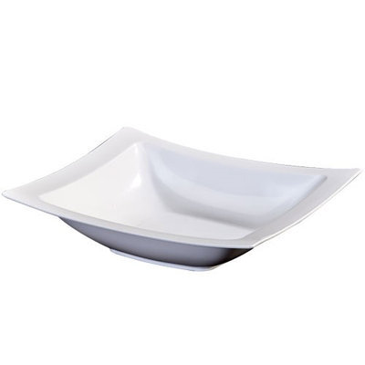 King Zak Ind Lillian Tablesettings 35920 Dinnerware 12 Oz Pearl Rectangular Bowl - 120 Per Case