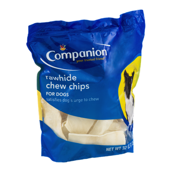 Companion Rawhide Chew Chips for Dogs 32 OZ