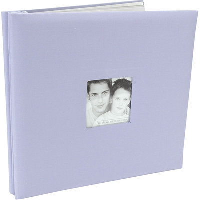 Mbi MBI Fashion Fabric Postbound 12x12 Scrapbook Album - Lilac
