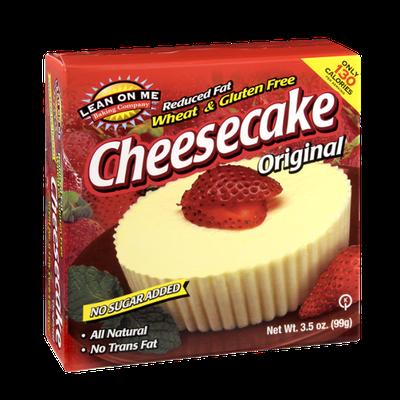 Lean on Me Gluten Free Original Cheesecake