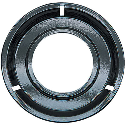 Range Kleen 1-Piece Drip Pan, Style G fits Round Burner Gas Ranges Caloric/Electrolux/Frigidaire/KitchenAid, Black Porcelain