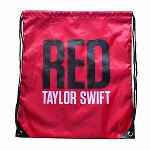 Taylor Swift Red Drawstring Backpack