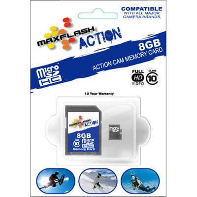 Maxflash 8GB Action Micro SDHC Card Class 10