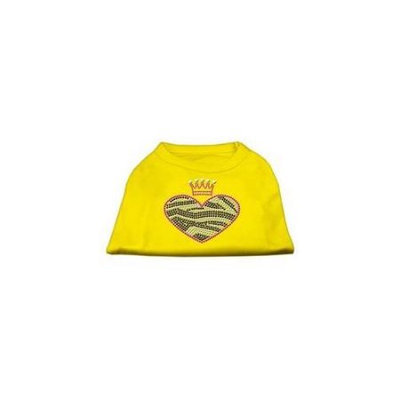 Ahi Zebra Heart Rhinestone Dog Shirt Yellow Lg (14)