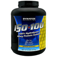 Dymatize Nutrition Iso-100 100% Whey Protein Isolate Dietary Supplement Powder Banana