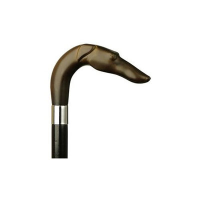 Harvy Unisex Russian Hound L Black Maple Cane, Ivory Handle -Affordable Gift! Item #HAR-9140638