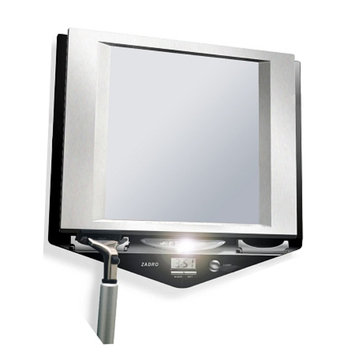 Z'Fogless LED Lighted Fog-Free Shower Mirror with LCD Clock