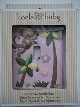 Koala Baby Girl Monkey Switch Plate Cover