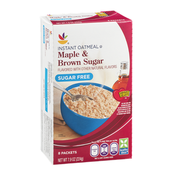 Ahold Sugar Free Instant Oatmeal Maple & Brown Sugar - 8 CT