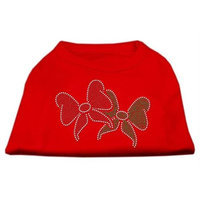 Mirage Pet Products 52-25-19 MDRD Christmas Bows Rhinestone Shirt Red M - 12