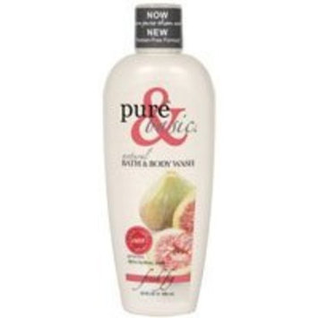 Pure and Basic Natural Bath and Body Wash, Fresh Fig, 12 Fluid Ounce