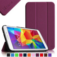 Fintie Smart Shell Case Ultra Slim Lightweight Stand Cover for Samsung Galaxy Tab 4 7.0 Tablet, Purple