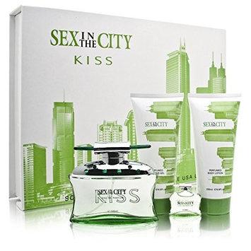 Sex In The City Perfume - Kiss 4 Piece Set Includes: 3.3 oz Eau de Parfum Spray + 6.8 oz Body Lotion + 6.8 oz Shower Gel + 0.25 oz Eau de Parfum Collectible