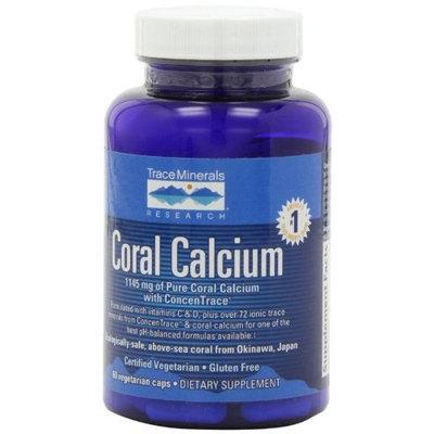 Trace Minerals Research Coral Calcium, Vegetarian Caps, 60 Vegetarian Caps