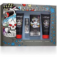 Ed Hardy Born Wild Fragrance Gift Set for Men, 4 pc