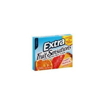 Wrigley's Extra Fruit Sensations Long Lasting Fruit Flavor Sweet Tropical Sugar Free Gum