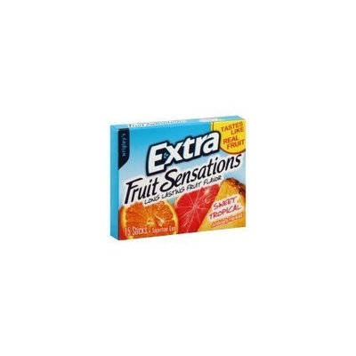 Wrigley's Extra Fruit Sensations Long Lasting Fruit Flavor Sweet Tropical Sugar Free Gum