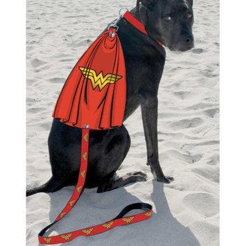 Buckle-down Inc. Dc Comics Wonder Woman Logo Caped Dog Leash - Turn Any Pup Into A Superhero
