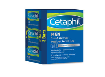 Cetaphil Men 3-in-1 Active Antibacterial Bar