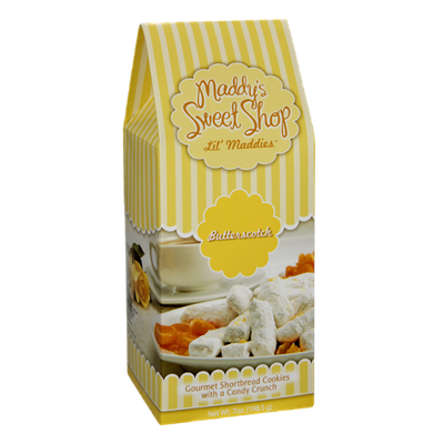 Maddy's Sweet Shop Lil' Maddies Butterscotch Gourmet Shortbread Cookies
