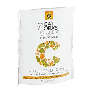 Cat Cora's Kitchen Snack Pack Pitted Green Olives Seasoned with Orange and Curry