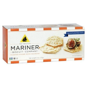 Mariner Biscuits The Mariner Biscuit Company Original Sesame, 4-Ounce Boxes (Pack of 6)