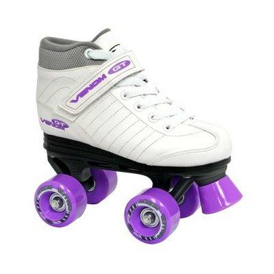 Roller Derby Girl's  Venom Speed Quad Skate - Lavender/ White (3)