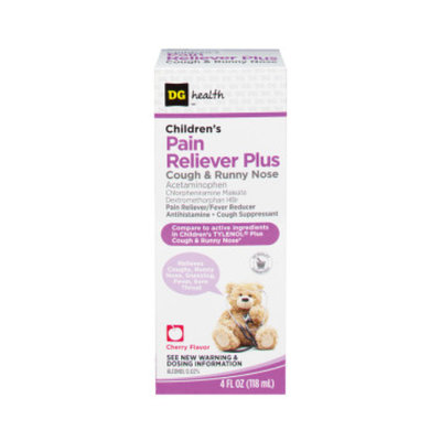 DG Health Children's Plus Cough & Runny Nose - Cherry Liquid, 4 oz
