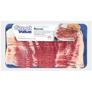 Great Value Lower Sodium Bacon, 16 oz