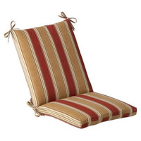 Pillow Perfect Outdoor Chair Cushion - Tan/Red Stripe
