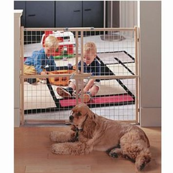 North States Easy Adjust 32inch Wire Mesh Gate NS4610
