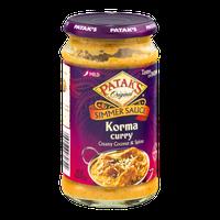 Patak's Original Simmer Sauce Korma Curry