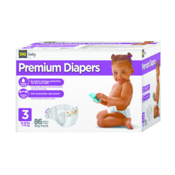 DG Baby  Diapers - Size 3  - 86ct