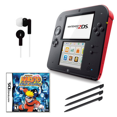 Nintendo 2DS Red Bundle with Game and Accessories