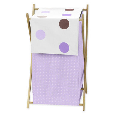 Sweet Jojo Designs Mod Dots Purple Collection Laundry Hamper